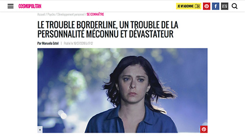 Couverture cosmopolitan, article borderline
